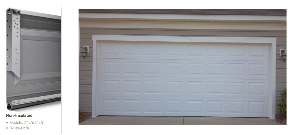 Double Steel Insulated Garage Doors In Plano Tx