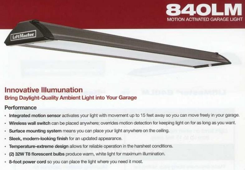 Liftmaster 840LM Motion Sensor Garage Light Product Image