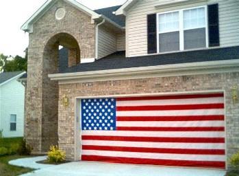 American Flag Garage Door