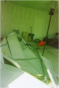 Garage Door Mangled