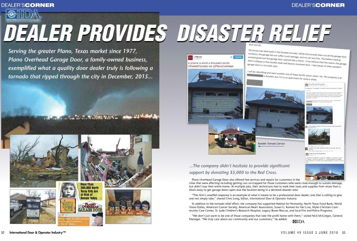 Rowlett Tornado Published IDA Magazine Article